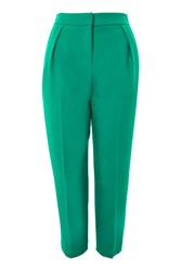 Topshop Petite Structured Clean Peg Trousers Green