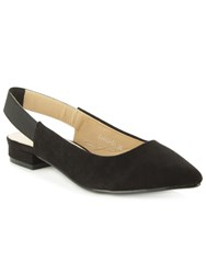 Daniel Hapsford Slingback Pointed Toe Pumps Black