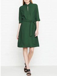 Hobbs Lois Belted Dress Pine Green