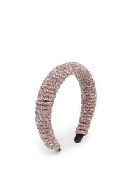 Germanier Crystal Embellished Headband Pink