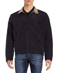 Andrew Marc New York Water Resistant Moto Jacket Black