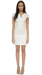 4.Collective Split Neck Cap Sleeve Dress White
