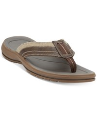 Dockers Men's Redding Thong Sandals Men's Shoes Dark Brown Khaki