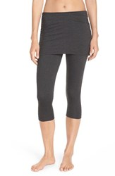 Zella Women's 'Layer Me Up' Skirted Crop Leggings Grey Dark Charcoal Heather