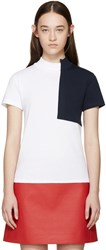 Jacquemus White And Navy Square T Shirt