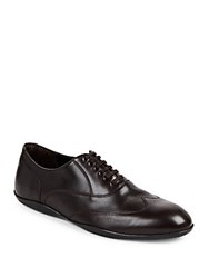 Harry's Of London Grant Wingtip Leather Oxfords Dark Brown