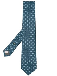 Canali Circle Embroidered Tie 60