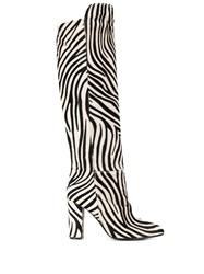 Via Roma 15 Zebra Pattern Boots Black