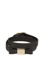 See By Chloe Double Wrap Leather Bracelet With Bow