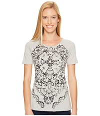 Aventura Clothing Luca Short Sleeve High Rise Women's Silver