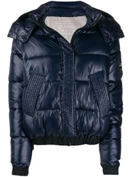 Ecoalf Hooded Puffer Jacket Blue