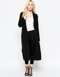 Brave Soul Longline Structured Coat Black
