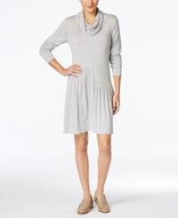 G.H. Bass And Co. Cowl Neck Shift Dress Dark Heather Grey