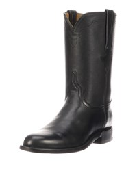 Lucchese Bannock Leather Cowboy Boots Black