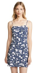 Blue Life Day Party Mini Dress Blue Polka Floral