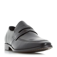 Dune Raleighs Chisel Toe Saddle Loafers Black