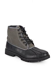 Steve Madden Cornel Faux Shearling Lined Boots Black Grey