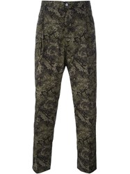 Dolce And Gabbana Pixelated Camouflage Print Trousers Green