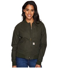 Carhartt Crawford Bomber Jacket Olive Women's Coat