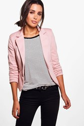 Boohoo Lined Button Tailored Blazer Blush