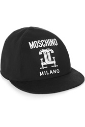 Moschino Printed Cotton Pique Baseball Cap