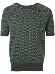 Emporio Armani Patterned Shortsleeved Jumper Men Cotton Viscose 52 Green