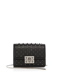 Alexander Mcqueen Skull Mini Studded Leather Chain Wallet Black