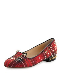 Plaid Punk Kitty Loafer Tartan Charlotte Olympia