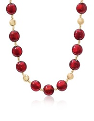 Antica Murrina Veneziana Frida Murano Glass Bead Necklace Red