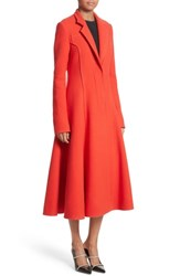 Jason Wu Fit And Flare Coat Lipstick Red