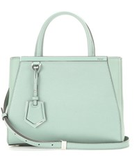 Fendi 2Jours Petite Leather Tote Green