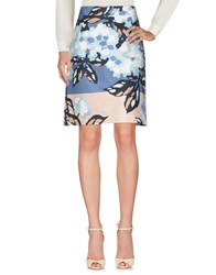 Ndegree 21 Knee Length Skirts Slate Blue