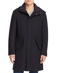 Cole Haan Waterproof Wool Blend Parka Navy