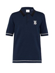 Burberry Hadlow Cotton Polo Shirt Navy