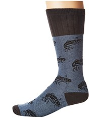 Socksmith Bass Blue Crew Cut Socks Shoes