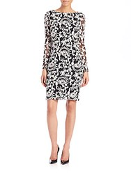Alice Olivia Katy Diamond Back Dress Black Cream