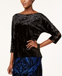 Cable And Gauge Embellished Cutout Top Black