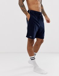 Lacoste Lounge Terry Shorts In Navy