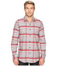 Nautica Long Sleeve Large Plaid Ablaze Men's Clothing Orange