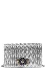 Miu Miu Women's Delice Matelasse Leather Wallet On A Chain