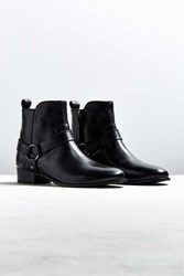 Urban Outfitters Uo Harness Leather Chelsea Boot Black