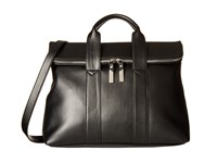 Steve Madden Bfoldovr Flap Satchel Black Satchel Handbags