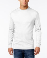 John Ashford Men's Big And Tall Interlock Crew Neck T Shirt Only At Macy's Bright White