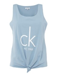 Calvin Klein Ck Nyc Logo Knotted Sports Tank Top Blue