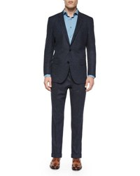 Hugo Boss Donegal Two Piece Wool Suit Navy
