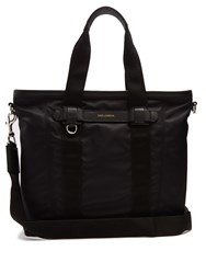 Dolce And Gabbana Leather Trimmed Nylon Tote Black