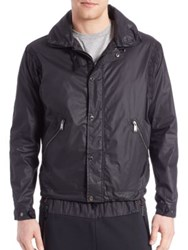 Kent And Curwen Shawl Collar Parachute Jacket Black