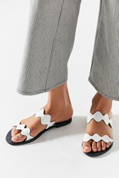 Urban Outfitters Wave Slide Sandal White