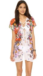 Clover Canyon Butterfly Petals Cover Up Multi