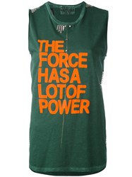 Freecity The Force Has A Lot Of Power Top Women Cotton Xs Green